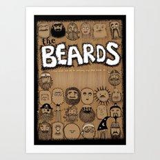 The Beards ~ Beards poster Art Print