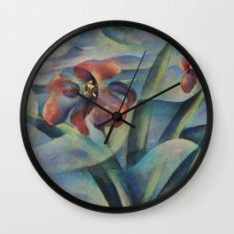 Magic Pool - Flowers Wall Clock