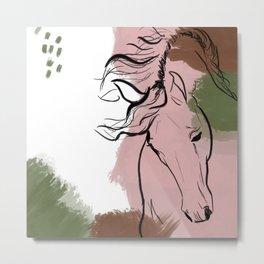 Abstract Equine iii Metal Print
