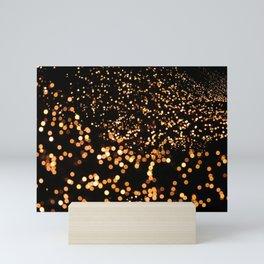 City Tree Lights, Bokeh Exposure, George's Dock, Dublin, Ireland Mini Art Print
