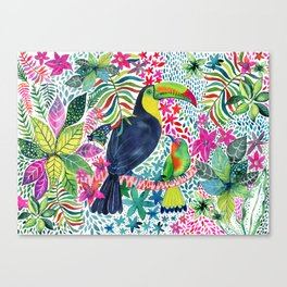 Toucan in the Rainforest Canvas Print