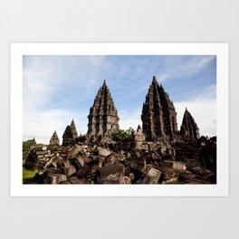 Prambanan Temples Art Print