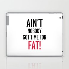 Time For Fat Funny Gym Quote Laptop & iPad Skin