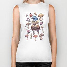 Mushroom Pickers - Lady Blue Biker Tank