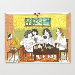 Björk and Sleater Kinney Canvas Print