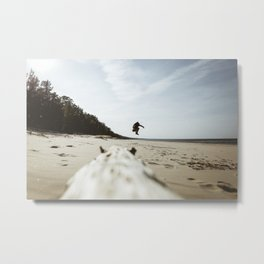 Jump & Joy. || Baltic Sea, Latvia. || Joyful Moments. Metal Print