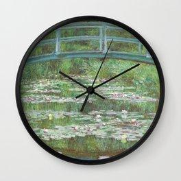 The Japanese Footbridge (1899) by Claude Monet Wall Clock
