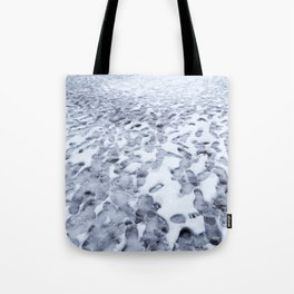 Footprints in the Melting Snow at Whistler Tote Bag