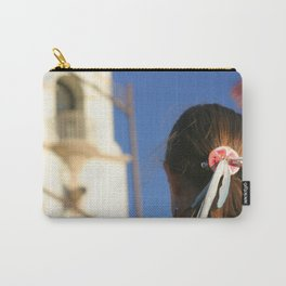 Girl Feather Headdress Carry-All Pouch
