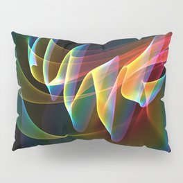 Northern Lights, Abstract Fractal Rainbow Aurora Pillow Sham