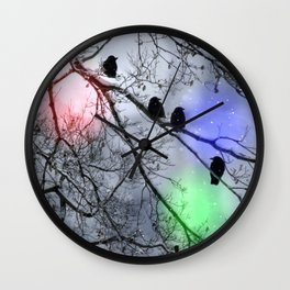 Polar Crows Wall Clock