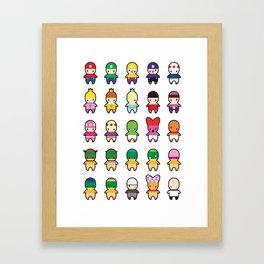 Super Mario Mumbles. Framed Art Print