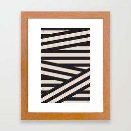 black or white Framed Art Print