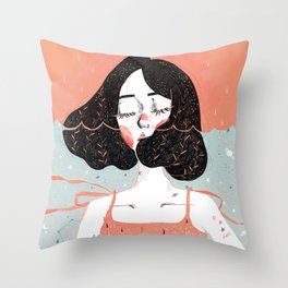 Drowning in Thoughts Throw Pillow