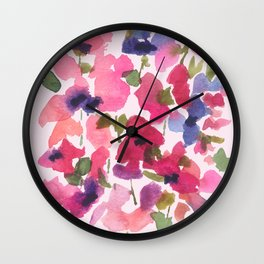 Monet's Rose Garden Wall Clock