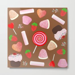 Candies pattern Metal Print