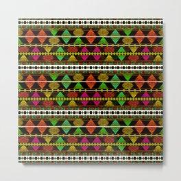 Aztec Style Pattern  Metal Print
