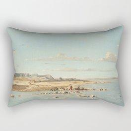 Paul Guigou Washerwomen on the Banks of the Durance 1866 Painting Rectangular Pillow