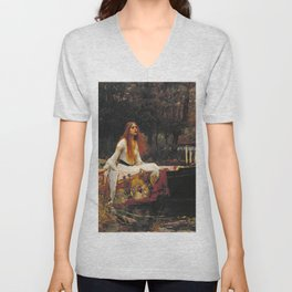 John William Waterhouse - The lady of shalott Unisex V-Neck