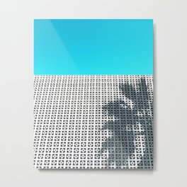 Parker Palm Springs with Palm Tree Shadow Metal Print