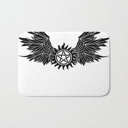 Anti possession wings - Supernatural - Edited by Laylalu Celis Bath Mat