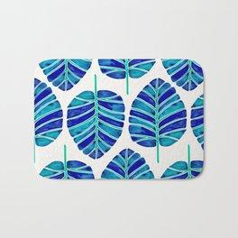 Elephant Ear Alocasia – Blue & Turquoise Palette Bath Mat