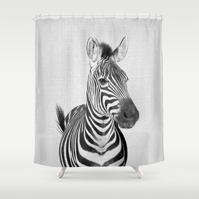 Zebra 2 - Black & White Shower Curtain