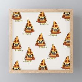 Pizza Pug Framed Mini Art Print