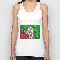 turkey Tank Tops featuring Angry Turkey by Sian Blackman