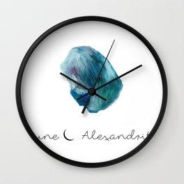 june alexandrite Wall Clock