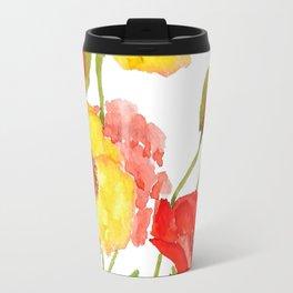 red and yellow  poppies Travel Mug