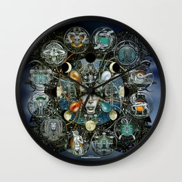 """Astrological Mechanism - Zodiac"" Wall Clock"