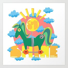 Sunshine! Art Print