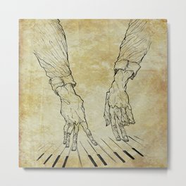 Hand of the pianist Metal Print