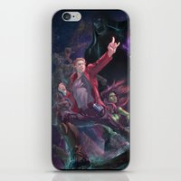 starlord iPhone & iPod Skins featuring Guardians Of The Galaxy by Arashi.C