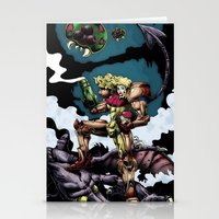 samus Stationery Cards featuring Samus by ADobson