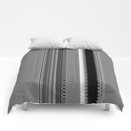 Gray Stripes Abstract Comforters