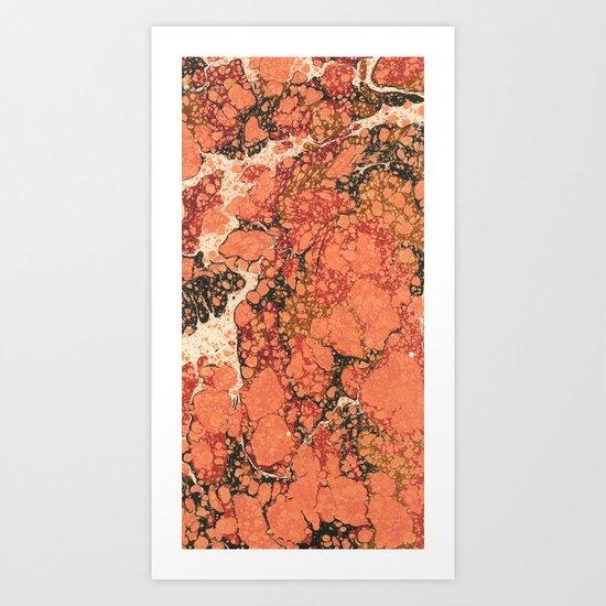 Marble Pink # 1 Art Print