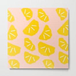 Modern abstract geometrical summer oranges pattern Metal Print