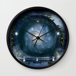 Magic Galaxy Portal Wall Clock