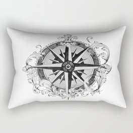 Compass Rose Rectangular Pillow