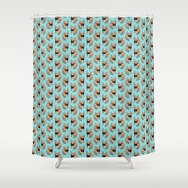 The Cute Black Mask Fawn French Bulldog Needs Some Attention Shower Curtain