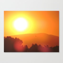 Golden Sunset in Spain Canvas Print