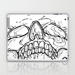 Carnibal / Ink Skull / Black Laptop & iPad Skin