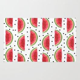 Watermelons and Polka Dots Pattern Rug