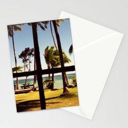Tropical Fiji Beach Scene Stationery Cards