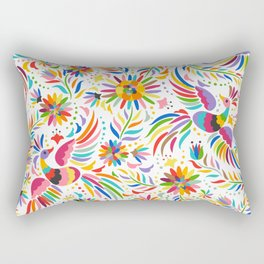 The colors of the Quetzal Rectangular Pillow