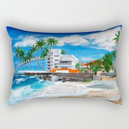 Isla Verde - $1M View, Carolina, San Juan, Puerto Rico Rectangular Pillow