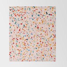 Blush Terrazzo #pattern #terrazzo Throw Blanket