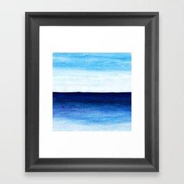 Blue & blue Framed Art Print
